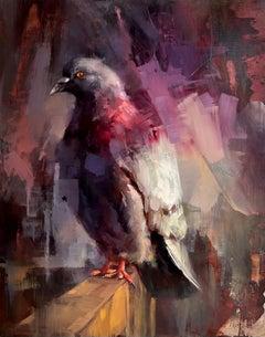 """Common Iridescence"", Oil painting"