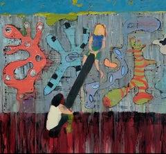 """Big Kids,"" Oil on Canvas - Figurative Painting"