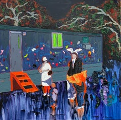 """""""Family Time,"""" Oil and Acrylic on Canvas - Figurative Painting"""