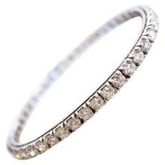 Line Bracelet in 18 Karat White Gold and Diamonds 8.5 Carat