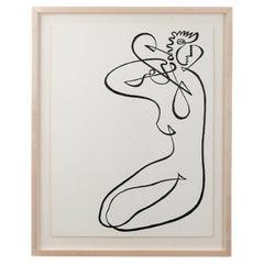 Line Drawing by Jean Negulesco