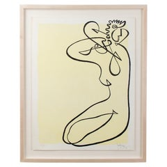 Line Drawing by Jean Negulesco, Signed