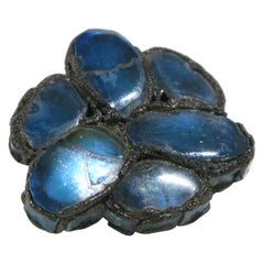 Line Vautrin Blue Mirror Talosel Brooch Pin