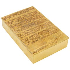 "Line Vautrin, France, ""j'ai perdu ma tourterelle"" Gilded Bronze Rebus Large Box"