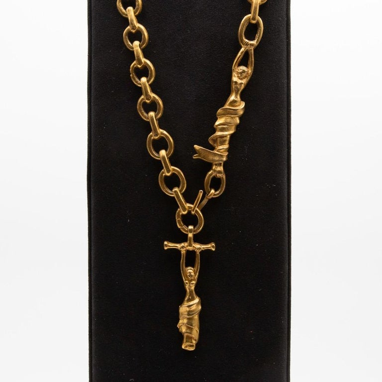 20th Century Line Vautrin, France, Rare long necklace