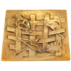 """Line Vautrin Gilded Bronze Pocket Emptier """"Holopherne"""""""