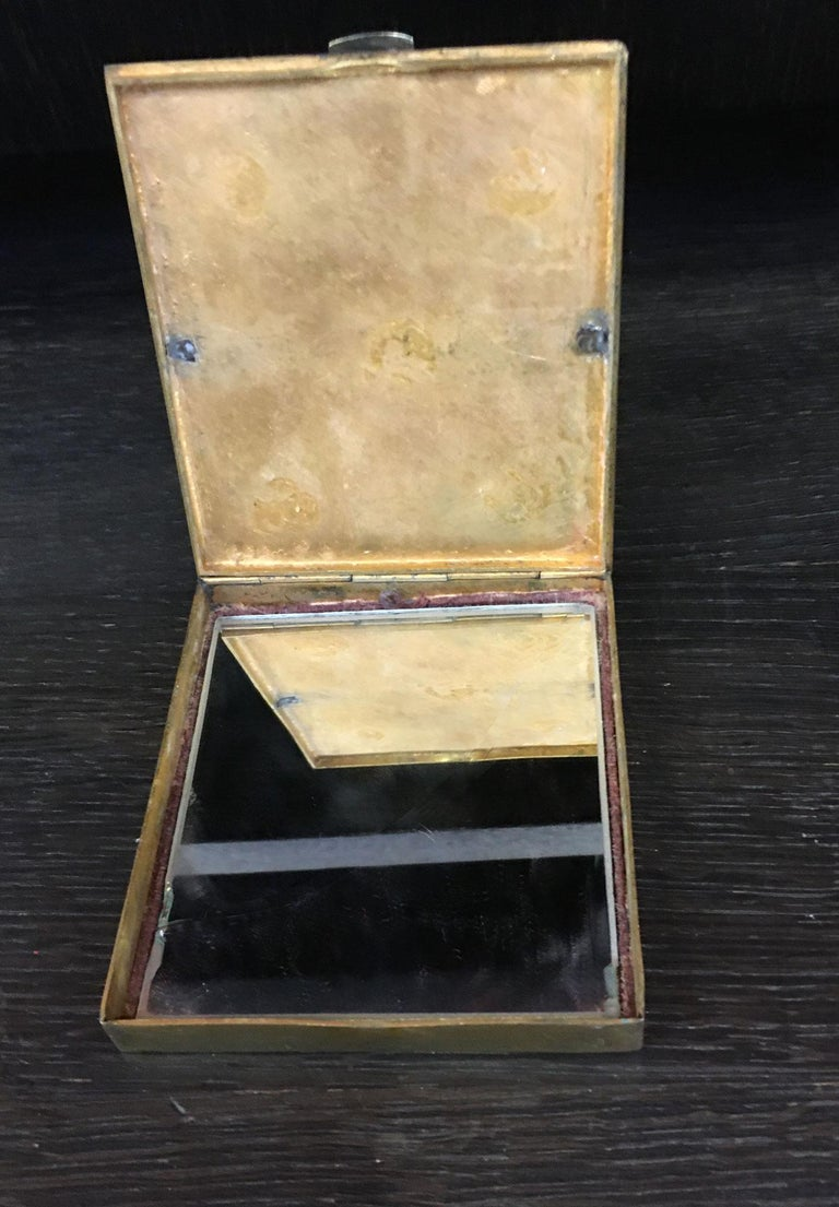 Line Vautrin Gilt Bronze Box Signed In Good Condition For Sale In Saint-Ouen, FR