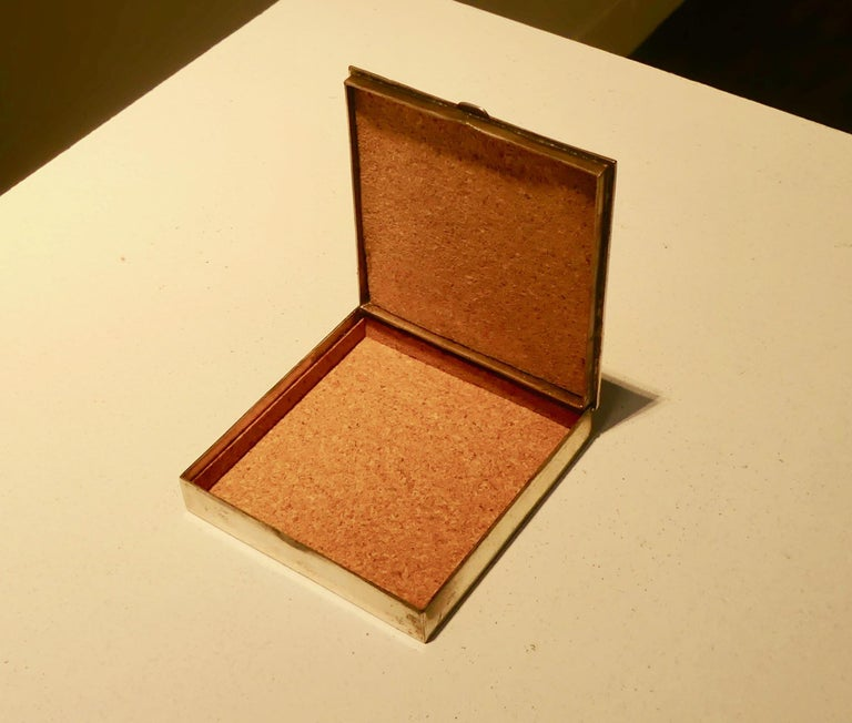 "Silvered bronze signed ""Line Vautrin""