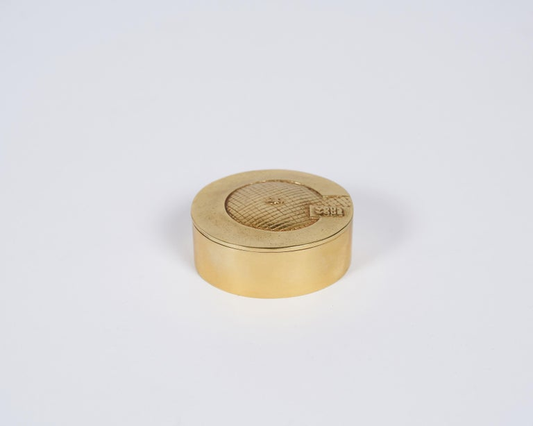 Line Vautrin J'ai Grand Appetit de Vous Bronze Dore Box, France, circa 1952-1955 In Good Condition For Sale In New York, NY