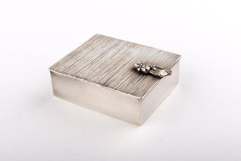 French Line Vautrin 'La Balayeuse Du Sacré Coeur' Silvered Bronze Box For Sale