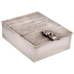 Line Vautrin 'La Balayeuse Du Sacré Coeur' Silvered Bronze Box