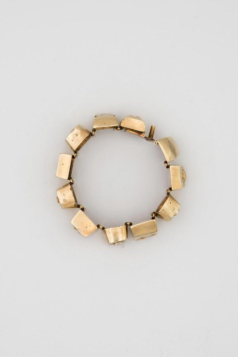 Line Vautrin Les Sept Péchés Capitaux Gilded Bronze Armband, Bracelet For Sale 3
