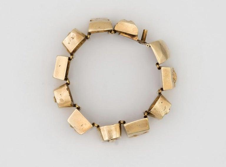 Line Vautrin Les Sept Péchés Capitaux Gilded Bronze Armband, Bracelet For Sale 4