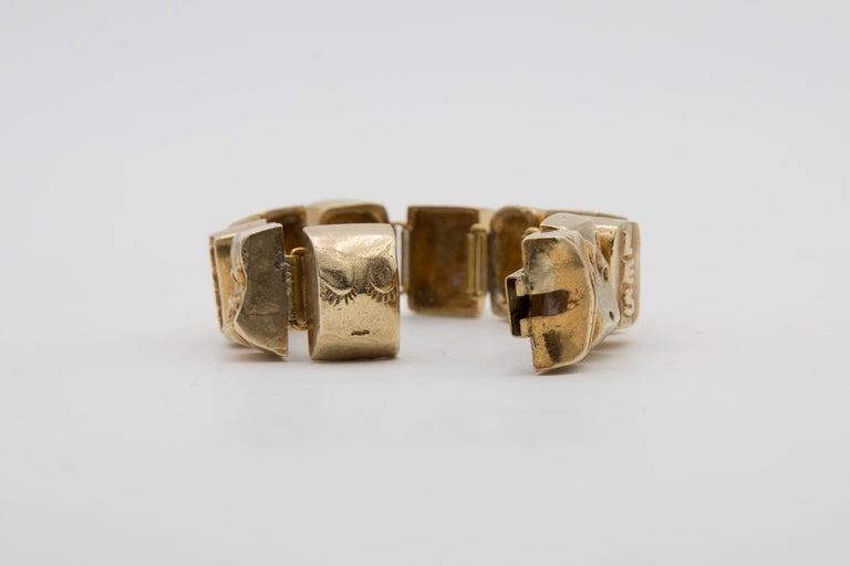 Line Vautrin Les Sept Péchés Capitaux Gilded Bronze Armband, Bracelet For Sale 1