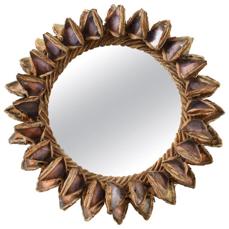 Line Vautrin, Mirror 'Cactus' For Sale