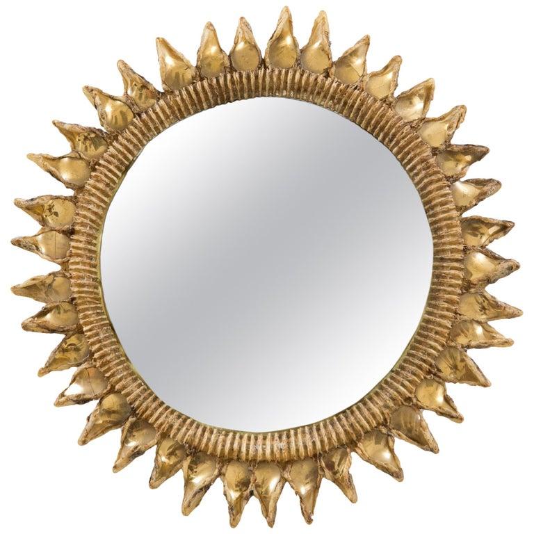 Line Vautrin Mirror 'Chardon' 20th Century