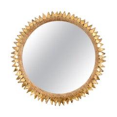 Line Vautrin Mirror 'Chardon Doré' 'Golden Thistle', Large Size