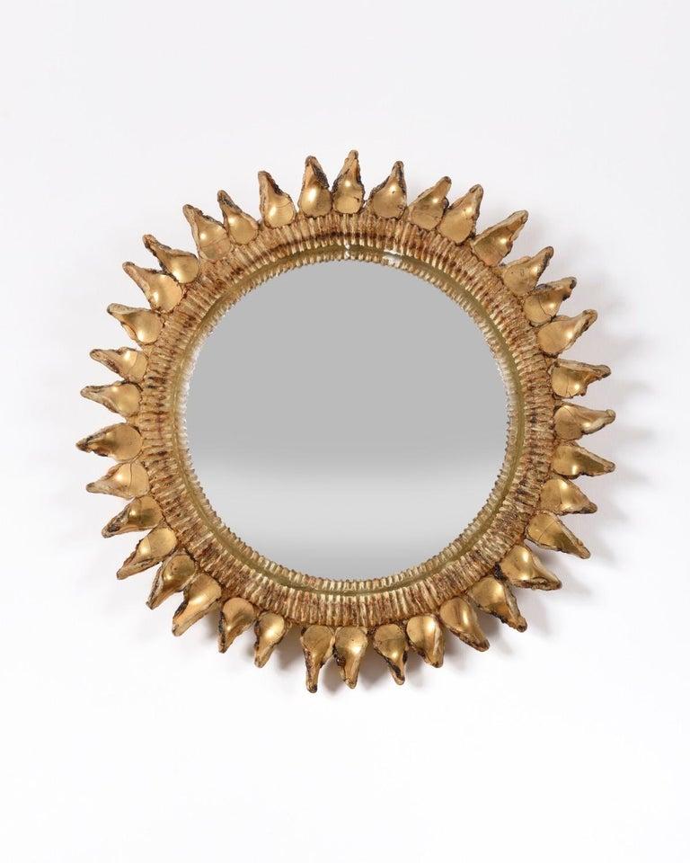 Modern Line Vautrin Mirror 'Chardon' 20th Century