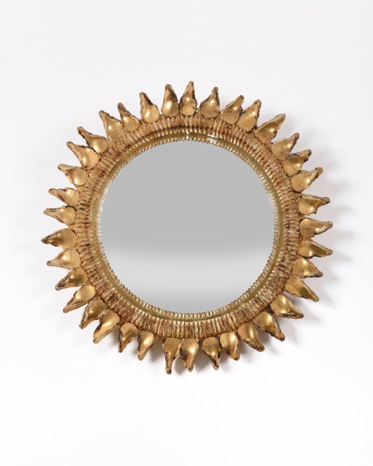 French Line Vautrin Mirror 'Chardon' 20th Century