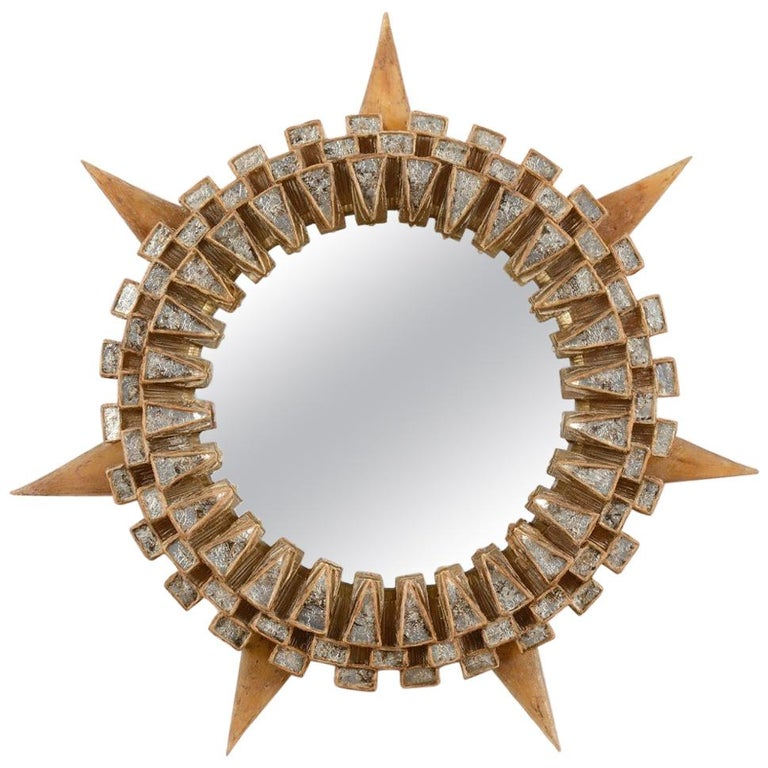 "Line Vautrin Mirror ""Tudor"" For Sale"