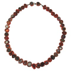 Line Vautrin Red Talosel Resin Mirror Necklace