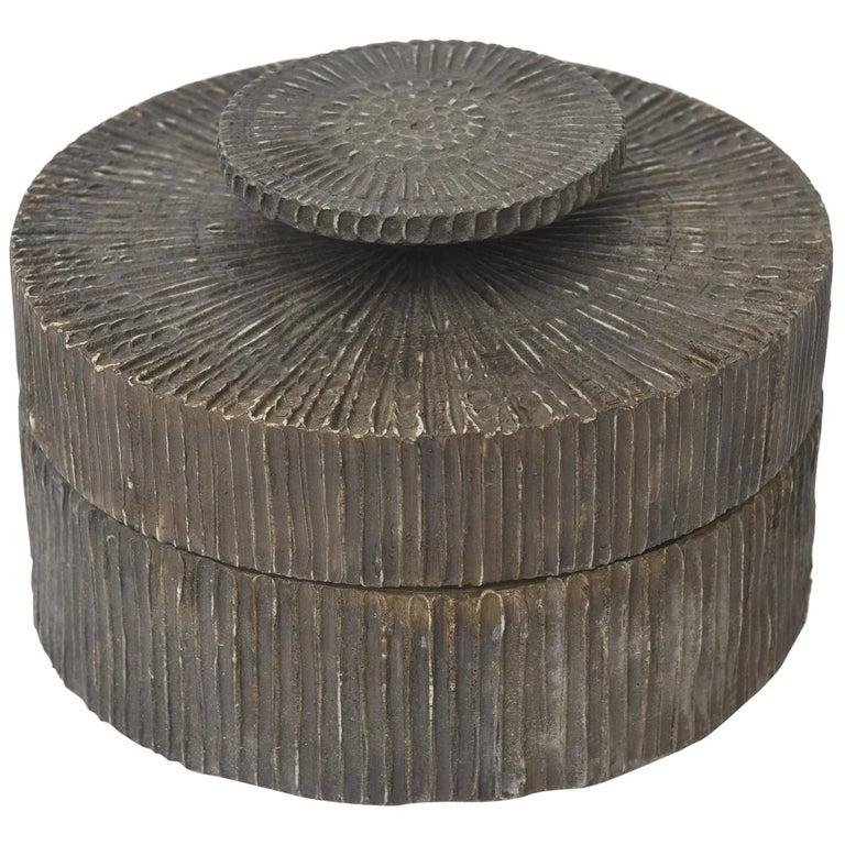 Line Vautrin Round Talosel Resin 2 Part Box For Sale