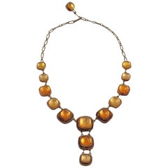 Line Vautrin School Honey Amber Talosel Resin Necklace