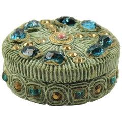Line Vautrin School Turquoise Talosel Resin Pill Snuff Box