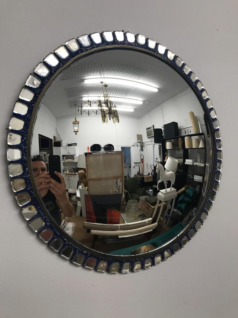 Mid-20th Century Line Vautrin Style Convex Mirror _SALE_ For Sale
