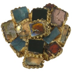 Line Vautrin Talosel Brooch Pin Multicolor Mirrors
