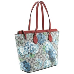 Linea A Zip Tote Blooms Print GG Coated Canvas Medium