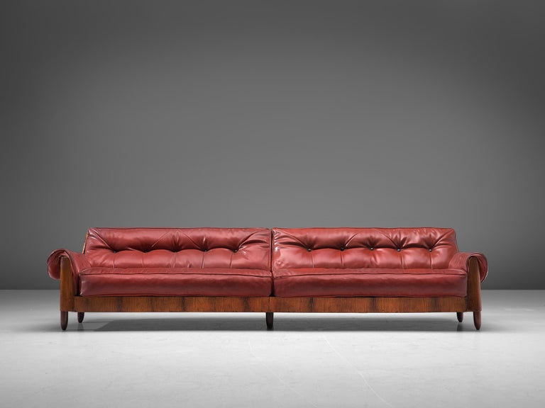 Brazilian Lineart Moveis e Decoracoes Customizable Sofa in Rosewood For Sale