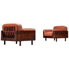 Lineart Moveis e Decoracoes Pair of Rosewood Armchairs
