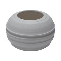 Líneas, Small Turned Ceramic Sculpture