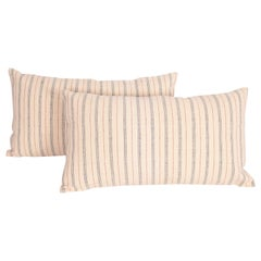 Linen and Cotton Pillow Cases Made from a Vintage Anatolian Handwoven Textile