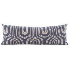 Linen Down Filled Lumbar Pillow 'Nigel' Print