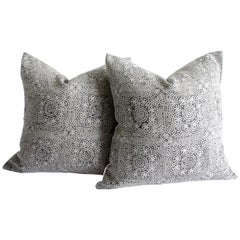 Linen Hand Block Accent Pillow Covers