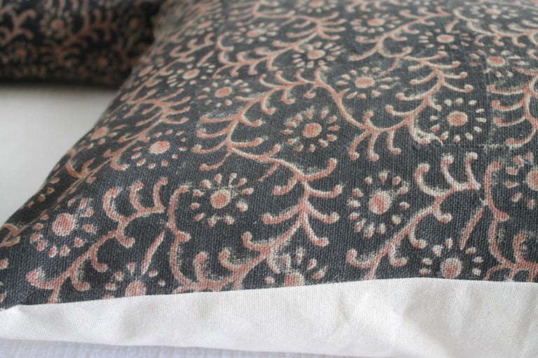 Linen Hand Blocked Pillow Covers 1