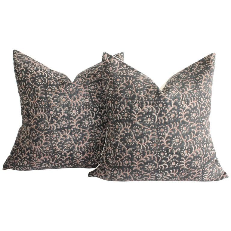 Linen Hand Blocked Pillow Covers