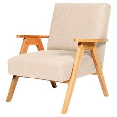 Linen Oak Goblin Armchair