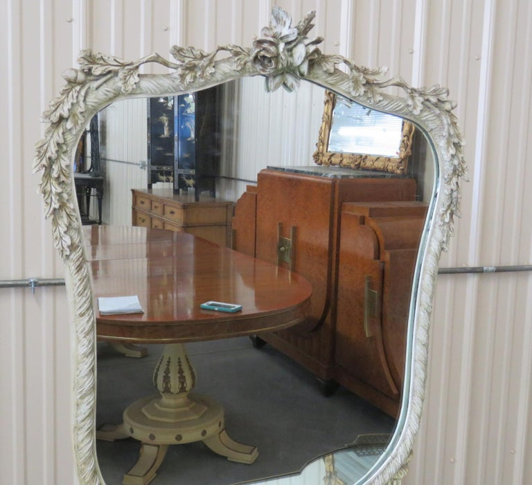 Linenfold Style Vanity with Mirror attr Grosfeld House For Sale 1