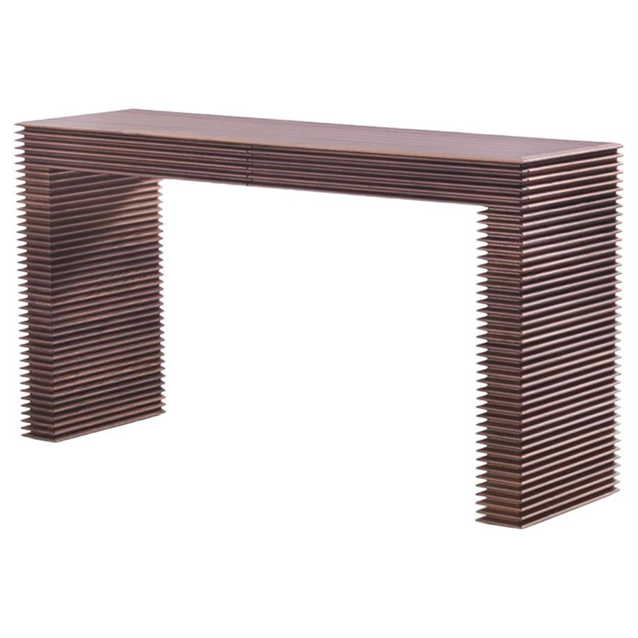 Lines Console Table in Solid Walnut Wood
