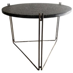 Linha Side Table Black Granite Top by Filipe Ramos