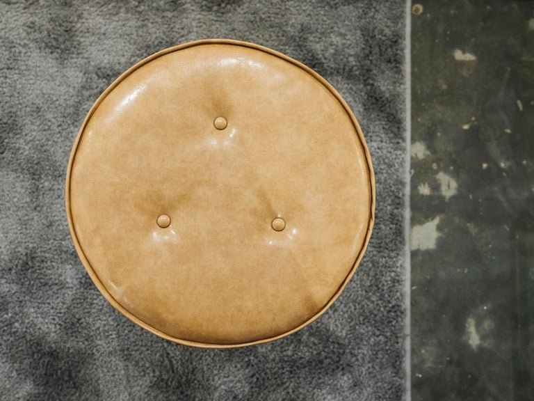 Linha Upholstered Stool by Filipe Ramos For Sale 3