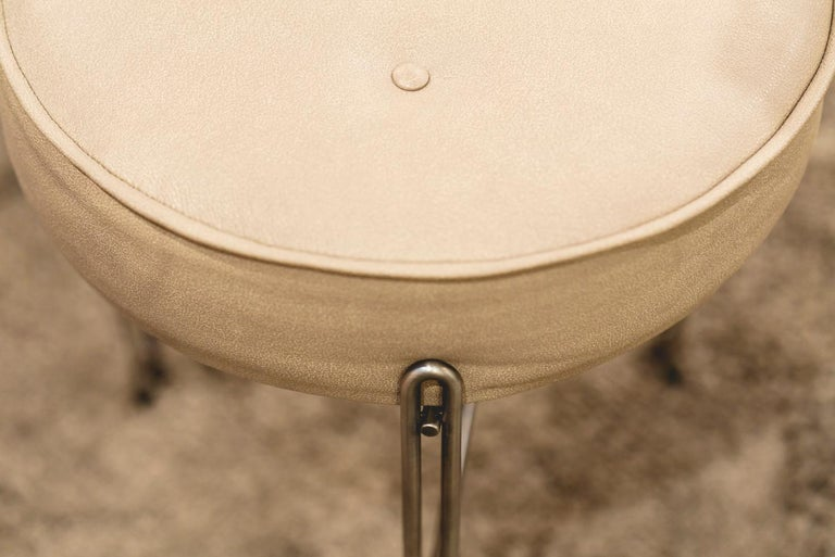 Linha Upholstered Stool by Filipe Ramos For Sale 1