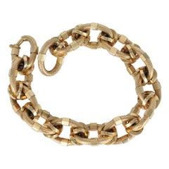 Link Bracelet in 18 Karat Yellow Gold