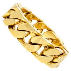 9b69f23c1c0af Large Link Brushed Finish Gold San Marco Bracelet at 1stdibs