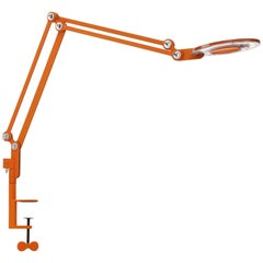 Link Medium Clamp Table Lamp in Orange by Pablo Designs