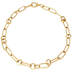 Link Necklace Signed Pomellato in 18 Karat Yellow Gold