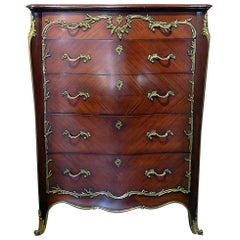 Linke Style Bronze Mounted High Chest
